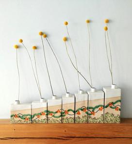 Set of Cornish Bud Vases