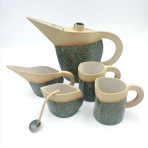 Tea set for two people
