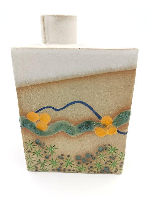 Bud Vase with Cornish coast design