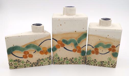 Trio of Cornish Design Bud Vases