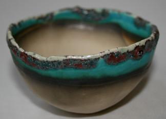Small copper carbonate pinch pot