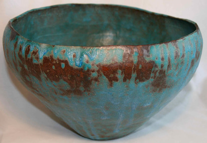 Large 'verdigris' bowl