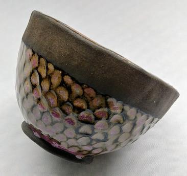 Black and pink tea bowl