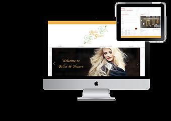 belles & shears website nik designs