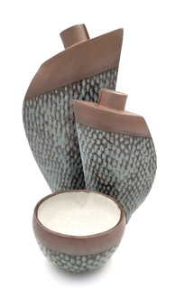 Fish Scale Vases and bowl