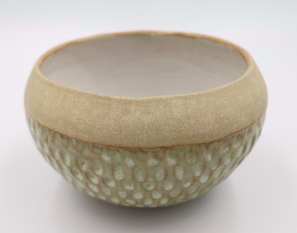 Bowl with wasabi glaze