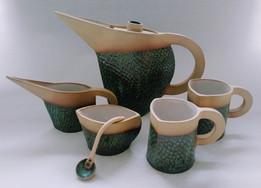 Fish scale bird Tea for 2 tea set