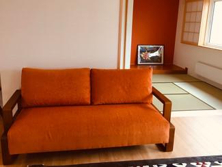 3人掛けソファーの張り替え