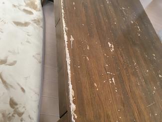 センターテーブル天板塗装
