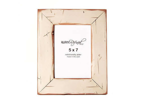 5x7 Cabin picture frame - Off White