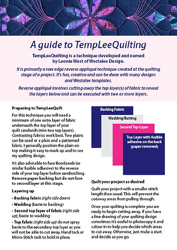 Guide to TempLeeQuilting