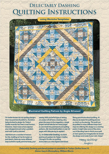 Delectably Dashing Quilting Instructions
