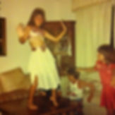 Young Despina in her belly dance gear