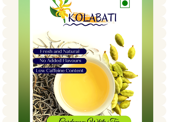 Cardamom - White Tea I 50 Gms I Loose Leaves
