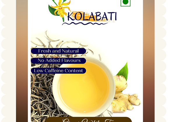 Ginger - White Tea I 50 Gms I (Loose leaves)