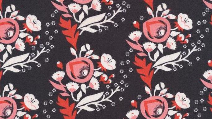 Modest Mum Organic Nursing Pillow in Vignette Poppy Pink