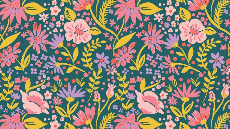 Modest Mum Organic Nursing Pillow in Forest Flowers