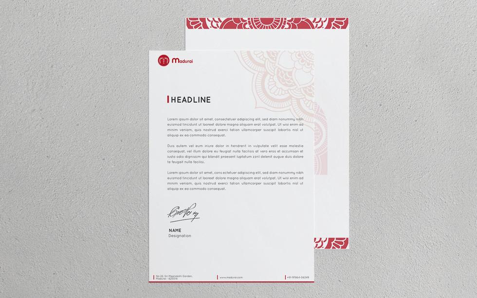 MAdurai letterhead