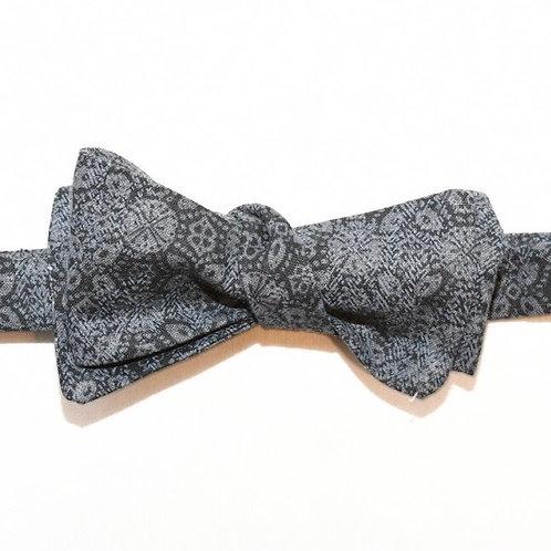 Black Pattern Bow Tie
