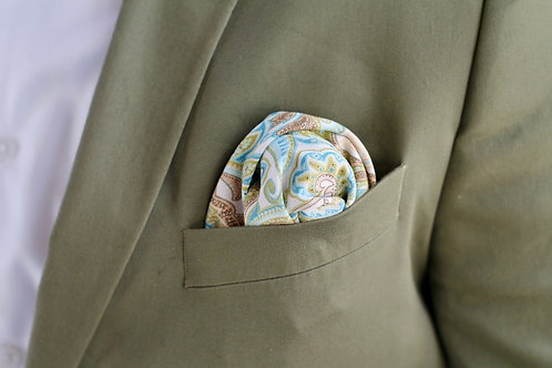 Paisley & Suede Pocket Square