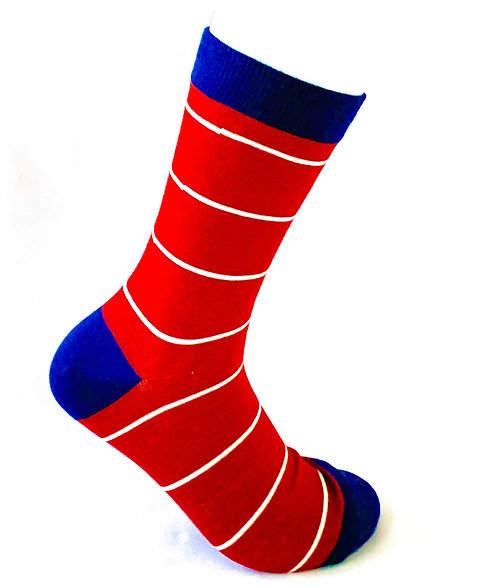 Red  and White Striped Stocks