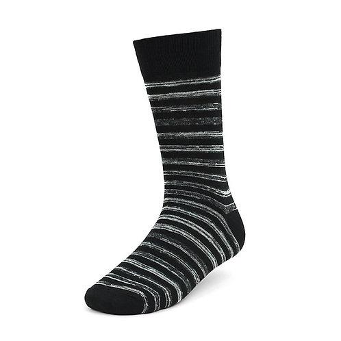 Black and Gray Stripe Socks