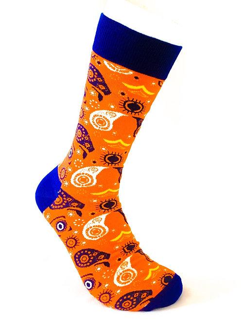 Orange & Blue Socks