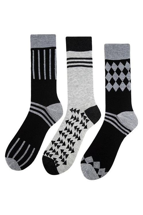 Gray and Black Sock Bundle
