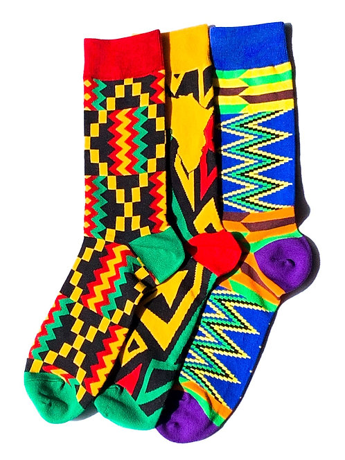 African Print Sock Bundle
