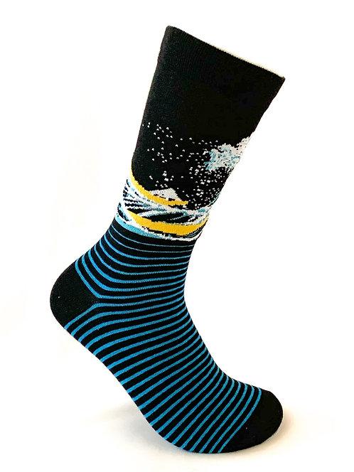 Wavy Blue Socks