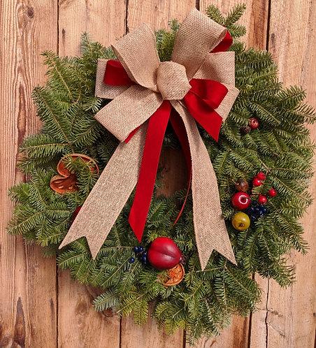Della Robbia Two Tone Natural Wreath