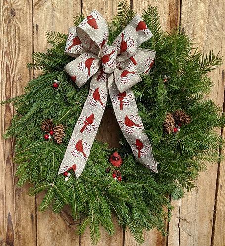 Red Cardinal Wreath