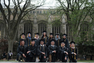 The greenery of the Law Quad always makes for a lovely group pic!