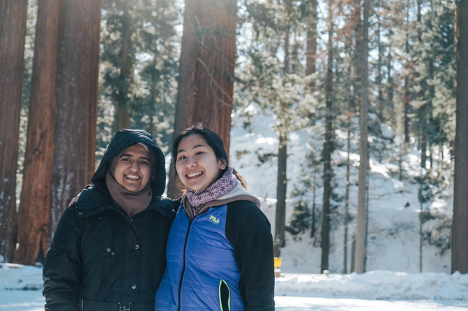 Sequoia smiles.