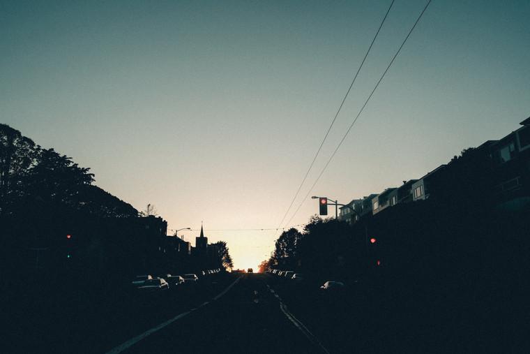 A sunlit sundown in San Fransisco