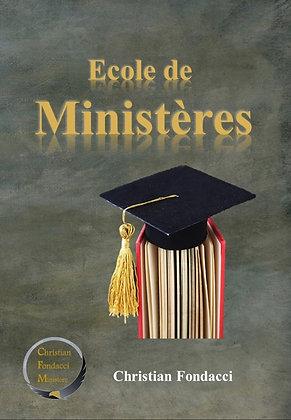 Ecole de ministères ( livre et cahier )