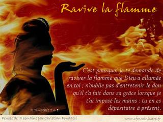 Ravive la flamme