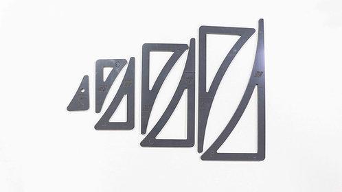 End Triangle Template Set