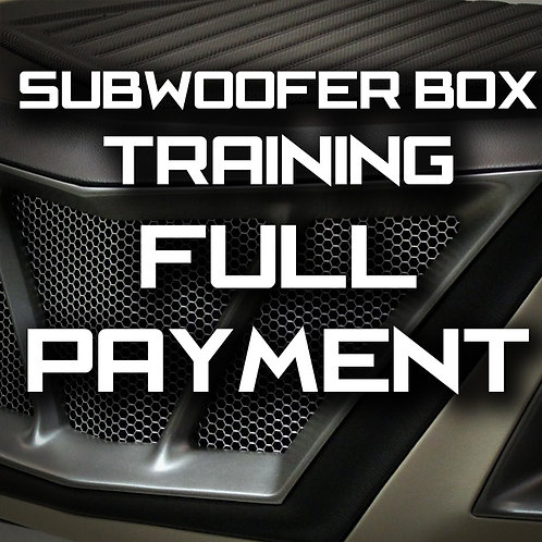 Full Payment - MasterTech Subwoofer Box Training