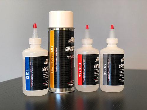MS Instant Adhesive 8oz - Full Kit