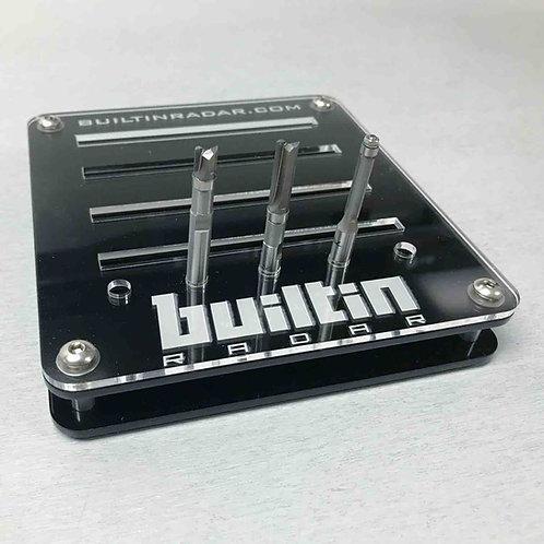 Router Bit Kit w/ Tray - Flush Trim 3 Piece