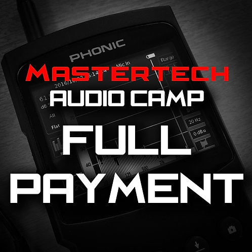 Full Payment - MasterTech Audio Camp