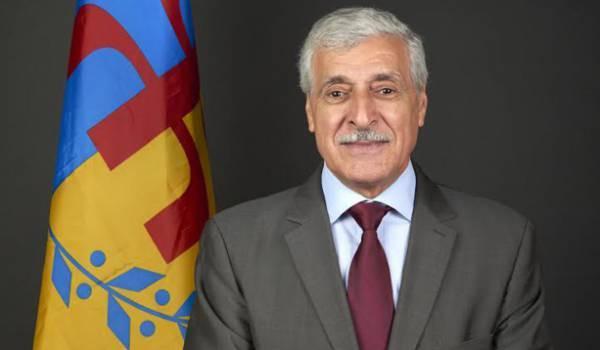 Ferhat Mehenni, président du MAK, Mouvement pour l'autodétermination de la Kabylie