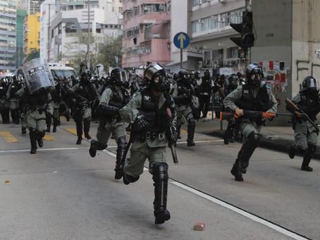 China moves into force in Hong Kong