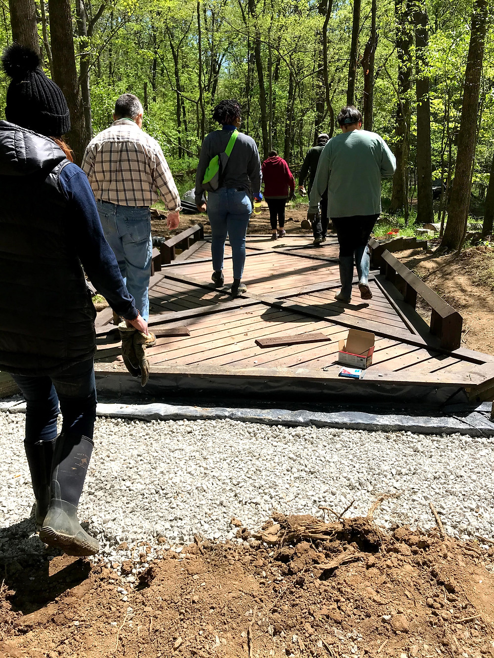 One of the bridges being constructed at Radnor Lake State Park.