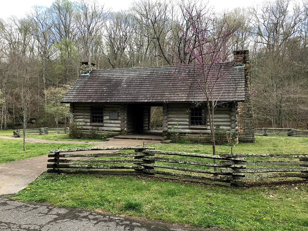 Log cabin replica at Montgomery Bell State Park