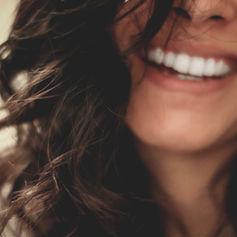 Boca de chica joven sonriente