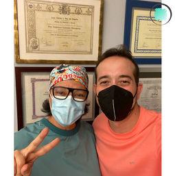 Dra. Carina y paciente de ortodoncia invisible en Algeciras en GM Ortodoncia.