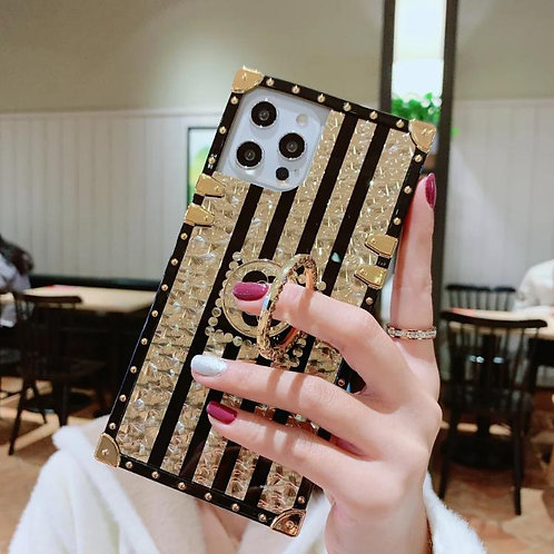 Square animal print phone case