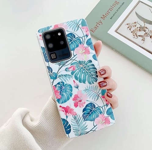Clear flowers and leaves case